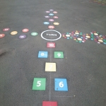 Thermoplastic Hopscotch Designs in Hall Green 4
