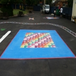 Thermoplastic Hopscotch Designs in The Parks 12