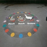 Thermoplastic Hopscotch Designs in Bishop Burton 2