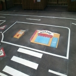 Netball Line Marking Installation in Bacton Green 1