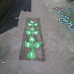 Thermoplastic Hopscotch Designs in Arclid Green 5