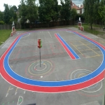 Netball Line Marking Installation in North Yorkshire 1