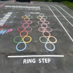Netball Line Marking Installation in Ae 4