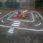 Netball Line Marking Installation in Ae 2