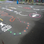 Thermoplastic Hopscotch Designs in Hall Green 1