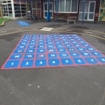 Netball Line Marking Installation in Ae 1