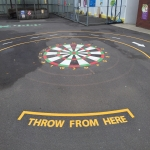 Basketball Surface Line Marking in Acton Reynald 8