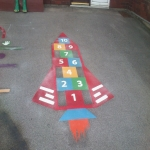 Thermoplastic Hopscotch Designs in Altarnun 4