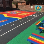 Kindergarten Play Flooring Graphics in Addington 6