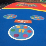Basketball Surface Line Marking in Acton Reynald 4