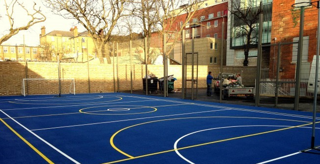 Line Markings for Netball Courts in Acton Round