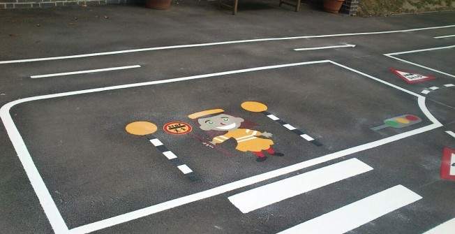 KS1 Playground Markings in Limavady