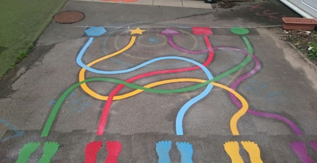 Coloured Line Markings in Applemore