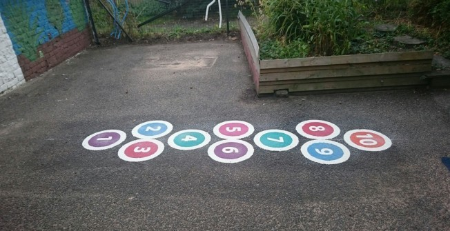 Play Area Markings for Nurseries in Aberwheeler/Aberchwiler