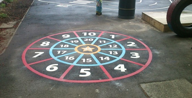 KS2 Playground Games Markings in Suffolk