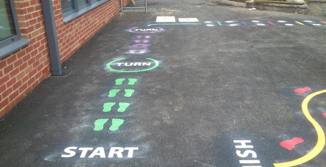 Children's Playground Markings in Aberchalder