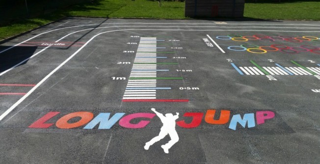 School OFSTED Playground Graphics in Alway