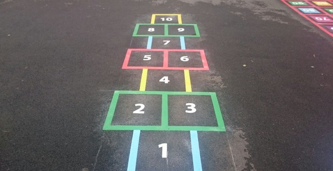 MUGA Hopscotch Markings in Arclid Green