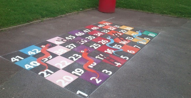 Thermo Plastic Playground Marking in Great Wolford