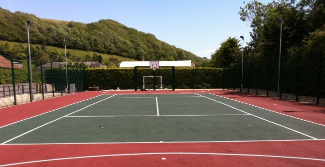 Cleaning Schools Tennis Line Paint in Amlwch