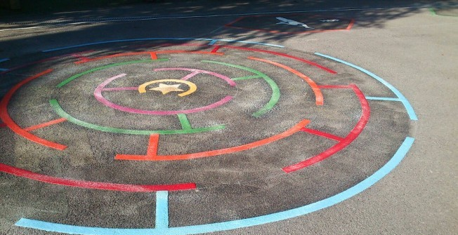 Removing Playground Marking Designs in Newry and Mourne