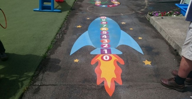 Playground Maths Games Marking in Appley