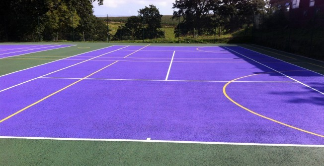 Tennis Line Paint Marking in Wormingford